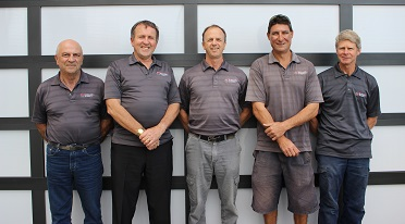 Picture of  supervisors From left to right: Charlie Lopresti, Mark Ledger, Marcus Robinson, Luke Jurie and John Van Den Bogart